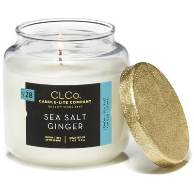 Candle-lite CLCo Candle Jar luxury scented candle 14 oz 396 g - No. 28 Sea Salt Ginger