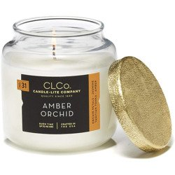 Candle-lite CLCo Candle Jar luxury scented candle 14 oz 396 g - No. 31 Amber Orchid