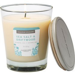 Candle-lite Essential Elements Glass Natural Scented Candle 9 oz 255 g - Sea Salt & Driftwood