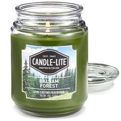Candle-lite Everyday Collection Large Terrace Jar Glass Scented Candle 18 oz 145/100 mm 510 g ~ 110 h - Balsam Forest