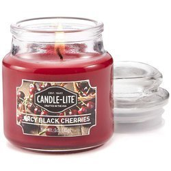 Candle-lite Everyday Collection Scented Small Jar Glass Candle With Lid 3 oz 95/60 mm - Juicy Black Cherries