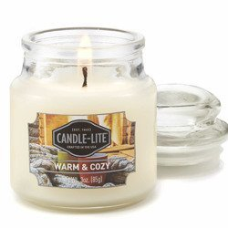 Candle-lite Everyday Collection Scented Small Jar Glass Candle With Lid 3 oz 95/60 mm - Warm & Cozy