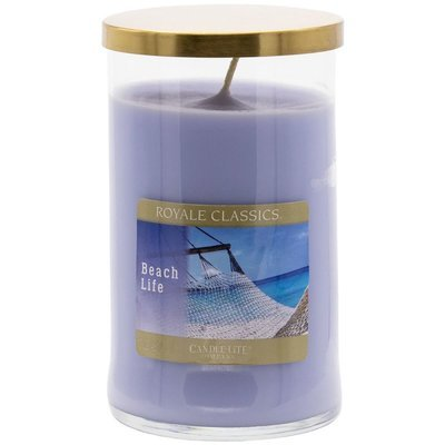Candle-lite Royale Classics premium scented candle tumbler gold 17 oz 481 g - Beach Life