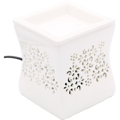 Electric wax burner with removable bowl Nata - White