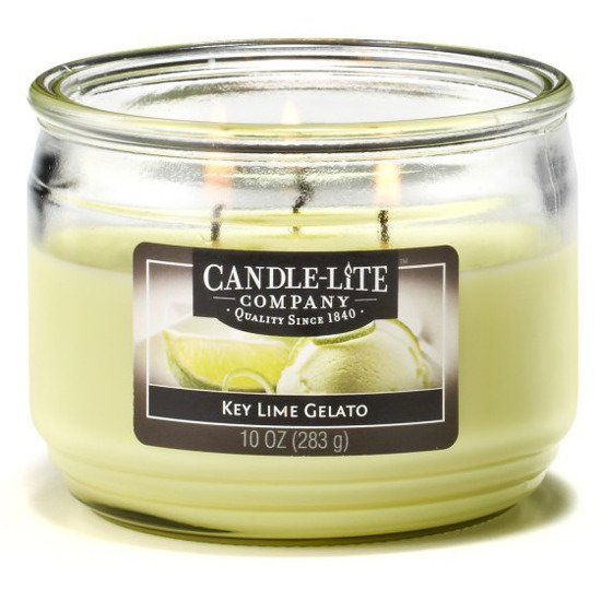 Candle-lite Everyday Collection 3 Wick Terrace Jar Glass Scented Candle 10 oz 283 g - Key Lime Gelato