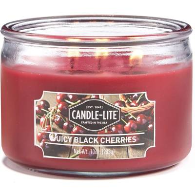 Candle-lite Everyday świeca zapachowa w szkle z trzema knotami 82/105 mm 283 g - Juicy Black Cherries