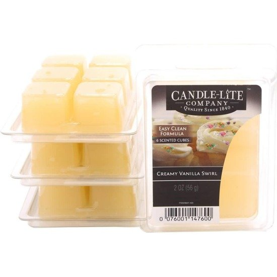 Candle-lite Everyday Collection Highly Fragranced Wax Cubes 2 oz intensywny wosk zapachowy kostki 56 g ~ 60 h - Creamy Vanilla Swirl