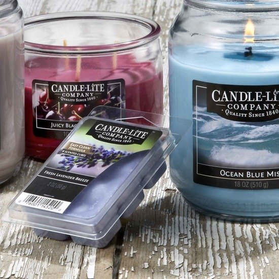 Candle-lite Everyday Collection Highly Fragranced Wax Cubes 2 oz intensywny wosk zapachowy kostki 56 g ~ 60 h - Fresh Lavender Breeze