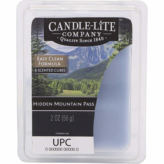 Candle-lite Everyday Collection Highly Fragranced Wax Cubes 2 oz intensywny wosk zapachowy kostki 56 g ~ 60 h - Hidden Mountain Pass
